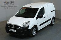 USED 2016 66 PEUGEOT PARTNER 1.6 BLUE HDI PROFESSIONAL 100 BHP SWB LOW ROOF AIR CON E6 EURO 6 ENGINE, ONE OWNER, SERVICE HISTORY, MANUFACTURE WARRANTY