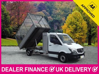 2014 MERCEDES-BENZ SPRINTER 313 CDI LWB TIPPER CAGED WITH SHUTTER TOOL BOX £13450.00