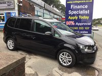 2013 VOLKSWAGEN TOURAN 1.6 SE TDI BLUEMOTION TECHNOLOGY 5d 103 BHP, only 45000 miles, 1 Owner £10995.00