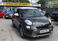 2014 FIAT 500L 1.2 MULTIJET TREKKING 5 DOOR 85 BHP IN GREY WITH A WHITE ROOF AND MIRRORS AND 45000 MILES £6999.00