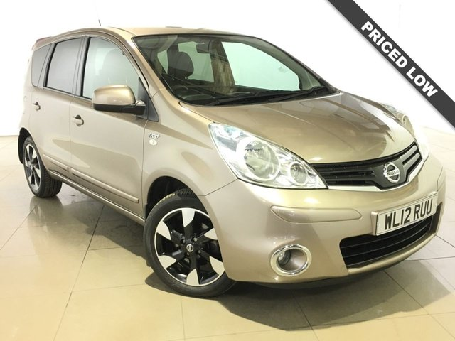 View our 2012 12 NISSAN NOTE 1.6 N-TEC PLUS 5d AUTO 110 BHP