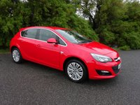 USED 2014 14 VAUXHALL ASTRA 1.4 EXCITE 5d 98 BHP, 2 OWNERS, FSH, RED