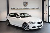 USED 2013 63 BMW 1 SERIES 3.0 M135I 5DR AUTO 316 BHP + FULL LEATHER INTERIOR + EXCELLENT SERVICE HISTORY + SATELLITE NAVIGATION + XENON LIGHTS + HEATED SPORT SEATS + DAB RADIO + REVERSE CAMERA + RAIN SENSORS + PARKING SENSORS + 18 INCH ALLOY WHEELS +