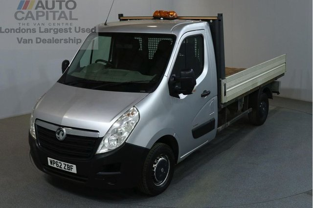 2013 62 VAUXHALL MOVANO 2.3 F3500 L2H1 CDTI 2d 123 BHP MWB RWD DIESEL MANUAL DROPSIDE LORRY ONE OWNER MUST SEE VEHICLE