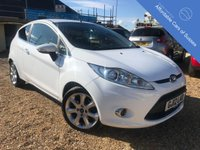 USED 2012 12 FORD FIESTA 1.25 ZETEC PETROL Stunning Frozen White petrol Ford Fiesta