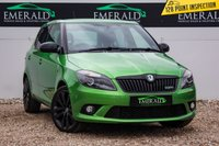USED 2012 12 SKODA FABIA 1.4 VRS DSG 5d AUTO 180 BHP £0 DEPOSIT FINANCE AVAILABLE, AIR CONDITIONING, AUX/CD/RADIO, CLIMATE CONTROL, DAYTIME RUNNING LIGHTS, DSG AUTOMATIC GEARBOX, FULL VRS CLOTH UPHOLSTERY, STEERING WHEEL CONTROLS, TINTED REAR WINDOWS
