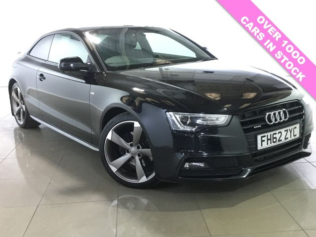 View our 2013 62 AUDI A5 2.0 TDI QUATTRO S LINE BLACK EDITION 2d 175 BHP