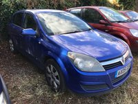 2005 VAUXHALL ASTRA 1.6 BREEZE 16V TWINPORT 5d 100 BHP SOLD WITH FAULTS SPARES OR REPAIRS £450.00
