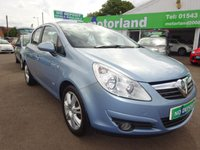 USED 2009 59 VAUXHALL CORSA 1.2 DESIGN 16V 5d 80 BHP TEST DRIVE TODAY CALL 01543 877320.....FULL STAMPED SERVICE HISTORY.....£0 DEPOSIT FINANCE AVAILABLE