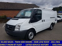 2011 FORD TRANSIT 300 SWB WITH 30,000 MILES DIRECT FROM BT FLEET £6995.00
