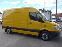 USED 2013 13 MERCEDES-BENZ SPRINTER 313 CDI MWB HI ROOF, 130 BHP [EURO 5], AIR CON, 1 COMPANY OWNER
