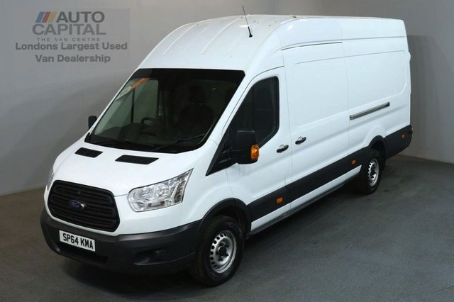 2014 64 FORD TRANSIT 2.2 350 H/R 124 BHP LWB L4 H3 JUMBO PANEL VAN ONE OWNER FROM NEW / SPARE KEY