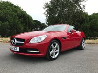 USED 2012 12 MERCEDES-BENZ SLK 2.1 SLK250 CDI BLUEEFFICIENCY 2d AUTO 204 BHP NEW SHAPE SLK WITH FSH 50K RED WITH FULL BLACK LEATHER