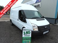 2013 FORD TRANSIT 2.2 350LWB HI ROOF 125BHP EX LEASE VEHICLE FULL SERVICE HISTORY  £6995.00