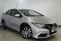 USED 2014 14 HONDA CIVIC 1.6 I-DTEC S 5DR 118 BHP FULL SERVICE HISTORY + BLUETOOTH + PARKING SENSOR + MULTI FUNCTION WHEEL + RADIO/CD + CLIMATE CONTROL + 16 INCH ALLOY WHEELS