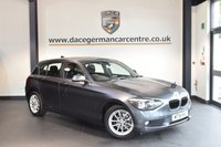USED 2014 14 BMW 1 SERIES 1.6 116D EFFICIENTDYNAMICS 5DR 114 BHP + EXCELLENT SERVICE HISTORY + 1 OWNER FROM NEW + BLUETOOTH + CRUISE CONTROL + DAB RADIO + RAIN SENSORS + PARKING SENSORS + 17 INCH ALLOY WHEELS +