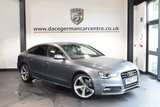 USED 2013 13 AUDI A5 2.0 SPORTBACK TDI S LINE BLACK EDITION S/S 5DR 175 BHP + FULL BLACK LEATHER INTERIOR + FULL SERVICE HISTORY + 1 OWNER FROM NEW + BLUETOOTH + SPORT SEATS + CRUISE CONTROL + DAB RADIO + PARKING SENSORS + 18 INCH ALLOY WHEELS +