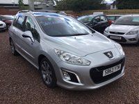 2013 PEUGEOT 308 1.6 E-HDI SW ACTIVE NAVIGATION VERSION 5d 115 BHP £5000.00