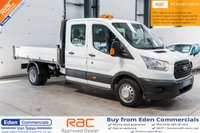 2016 FORD TRANSIT 2.2 350 L3 DCB C/C DRW 124 BHP *DOUBLE CAB TIPPER* £17295.00