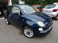 USED 2015 15 FIAT 500 1.2 CONVERTIBLE POP STAR 3d 69 BHP Convertible, Low Mileage, Full Service History (Fiat + ourselves), One Lady Owner from new, MOT until July 2019, Great on fuel economy! Only £30 Road Tax!