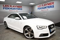 USED 2012 62 AUDI A5 2.0 TDI S LINE BLACK EDITION 2d 177 BHP Cheap Tax, DAB Radio, Bluetooth, 19in alloys, Bang&Olufsen