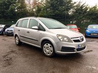 2007 VAUXHALL ZAFIRA 1.6 LIFE 16V 5d PART EXCHANGE TO CLEAR MOT TILL AUGUST 19  £2000.00