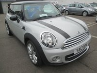 2013 MINI HATCH COOPER 1.6 COOPER 3d 122 BHP,WHITE SILVER £7695.00