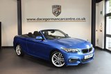 USED 2015 15 BMW 2 SERIES 2.0 220D M SPORT 2DR 188 BHP + FULL BMW SERVICE HISTORY + 1 OWNER FROM NEW + SATELLITE NAVIGATION + BLUETOOTH + CRUISE CONTROL + DAB RADIO +RAIN SENSORS + PARKING SENSORS + 18 INCH ALLOY WHEELS +