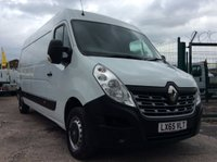 2015 RENAULT MASTER LWB 2.3 LM35 BUSINESS DCI S/R 125 BHP 1 OWNER FSH NEW MOT  £9450.00