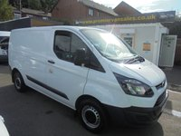 2014 FORD TRANSIT CUSTOM 2.2 TDCI, 270 SHORT WHEEL BASE, LOW ROOF, BTOOTH, SECURITY LOCK, SHELVING £7995.00