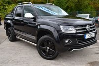 "USED 2015 15 VOLKSWAGEN AMAROK 2.0 DC TDI ULTIMATE 4MOTION 5d AUTO 180 BHP HEATED LEATHER/SUEDE ~ SAT NAV ~ REVERSE CAMERA ~ SPORTS BACK ~ 19"" ALLOYS IN BLACK"