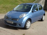 USED 2007 56 NISSAN MICRA 1.2 SPIRITA 5d AUTO 80 BHP SERVICE RECORD +  2 PREVIOUS KEEPERS +  MOT MARCH 2019 +  AIR CON +