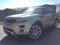 2012 LAND ROVER RANGE ROVER EVOQUE 2.2 SD4 DYNAMIC LUX 3d AUTO 190 BHP SATNAV CRUISE LEATHER CLIMATE FSH £16790.00