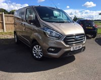 USED 2018 18 FORD TRANSIT CUSTOM 2.0 300 LIMITED DCIV L1 H1 1d 129 BHP PANEL VAN, 6 BSEATER