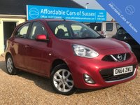USED 2014 64 NISSAN MICRA 1.2 ACENTA 5d 79 BHP Over 55 MPG average, only £30 annual road tax and low insurance