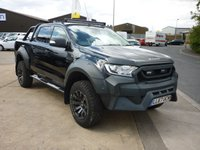 USED 2017 67 FORD RANGER 3.2 LIMITED 4X4 DCB TDCI M-Sport  200 ps M-Sport Exterior Body kit  Black Nappa Leather with Blue Stitching Off Road Pack Grey Rally sticker Pack Towbar and much more