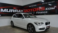 2014 BMW 1 SERIES 2.0 116D SPORT 5DOOR 114 BHP ALPINE WHITE £10795.00