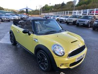 USED 2009 09 MINI CONVERTIBLE 1.6 COOPER S 2d 175 BHP Interchange Yellow, Leather sports seats, climate, 17 inch alloys plus more