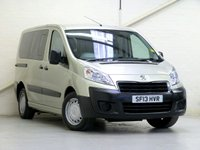USED 2013 13 PEUGEOT EXPERT TEPEE 2.0 HDI COMFORT L1 5d 98 BHP [WHEELCHAIR ACCESSIBLE VEHICLE] 5 SEATS + WC • FULL-LOW-FLOOR