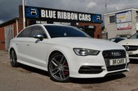 USED 2015 64 AUDI A3 2.0 S3 QUATTRO 4d AUTO 296 BHP TECH PACK, SAT NAV +, GHOST ANTI THEFT SYSTEM