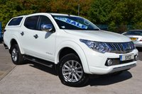 USED 2015 65 MITSUBISHI L200 2.4 DI-D 4X4 BARBARIAN DCB 1d AUTO 178 BHP COLOUR CODED CANOPY WITH WINDOWS ~ 1 OWNER ~ SAT NAV