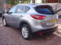 USED 2012 12 MAZDA CX-5 2.2 D SPORT NAV AWD 5d  4WD SAT NAV, LEATHER, XENONS, REVERSE CAMERA, PARKING SENSORS, BLUETOOTH, CRUISE CONTROL, FULL SERVICE HISTORY JUST SERVICED AT 67K, MOT TILL JULY 2019, HPI CLEAR