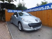 USED 2009 09 PEUGEOT 207 1.6 SPORT COUPE CABRIOLET 2d 118 BHP CONVERTIBLE, AIR CON, FSH