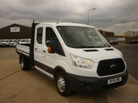 USED 2016 16 FORD TRANSIT 2.2TDCi  T350 L3 Double Cab Dropside 125 BHP ELECTIC WINDOWS DAB RADIO AND MORE FINANCE AVAILABLE
