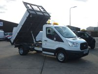USED 2016 66 FORD TRANSIT 2.2TDCi  T350 Single Cab Tipper 125 BHP FINANCE AVAILABLE