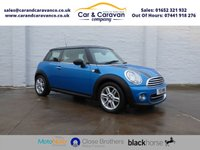 USED 2011 11 MINI HATCH COOPER 1.6 COOPER PIMLICO 3d 121 BHP All MINI History Bluetooth A/C 0% Deposit Finance Available