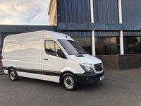 USED 2015 15 MERCEDES-BENZ SPRINTER 313 CDI MWB Hi Roof 2.1 130 BHP 2015 (15) Plate White