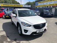 2014 MAZDA CX-5 2.2 D SE-L NAV 5 DOOR 148 BHP IN WHITE WITH 74000 MILES AND 2 OWNERS. £10499.00