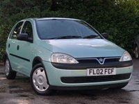 2002 VAUXHALL CORSA 1.2 CLUB 16V 5d 75 BHP £895.00