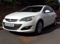 USED 2013 63 VAUXHALL ASTRA 2.0 ELITE CDTI S/S 5d 163 BHP FULL SERVICE HISTORY, 1YR MOT,  30 TAX, ALLOYS, HEATED LEATHER, DUAL CLIMATE, CRUISE, BLUETOOTH,  FOGS, RADIO CD, E/WINDOWS, R/LOCKING, FREE WARRANTY, FINANCE AVAILABLE, HPI CLEAR, PART EXCHANGE WELCOME,